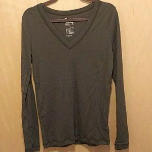 Gap Super Soft Long Sleeve Olive Green Shirt